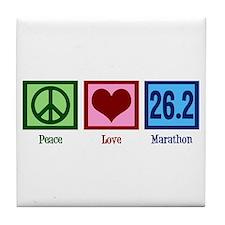 Peace Love 26.2 Tile Coaster