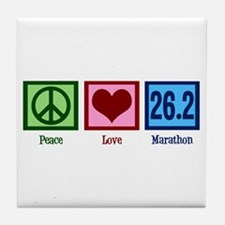 Peace Love 26.2 Tile Coaster