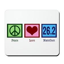 Peace Love 26.2 Mousepad