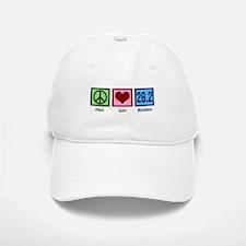 Peace Love 26.2 Baseball Baseball Cap