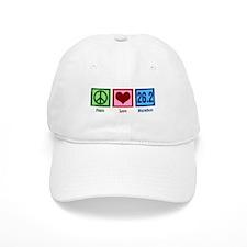 Peace Love 26.2 Baseball Cap