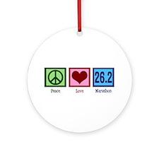 Peace Love 26.2 Ornament (Round)