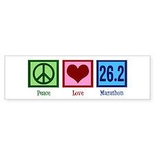 Peace Love 26.2 Bumper Sticker