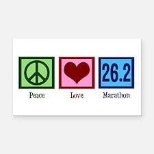 Peace Love 26.2 Rectangle Car Magnet