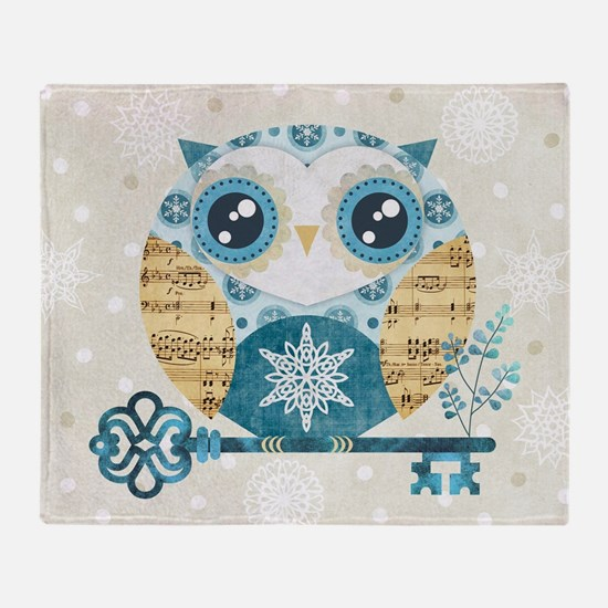 Winter Wonderland Owl Throw Blanket