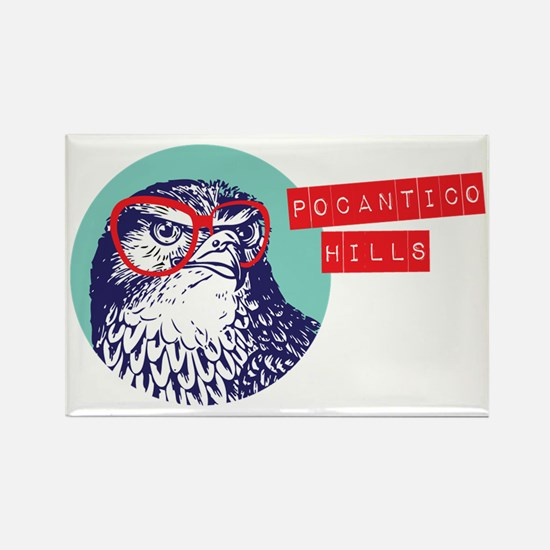 Pocantico Hills Studious Hawk Rectangle Magnet