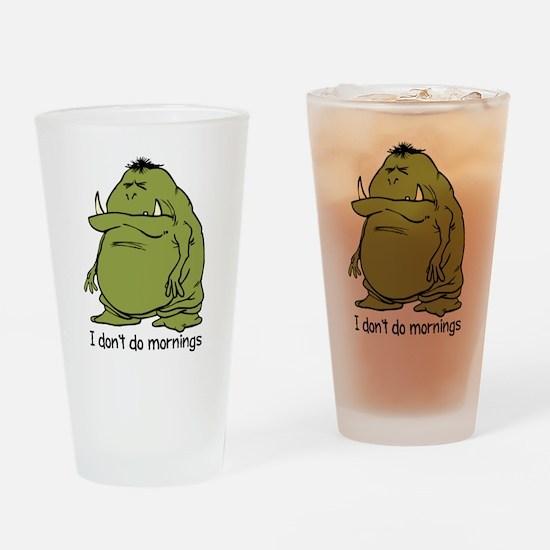 Morning Ogre Drinking Glass