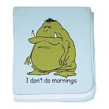 Morning Ogre baby blanket