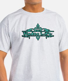 Rodeo Life-Turquoise T-Shirt