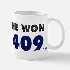 He Won 409 Mugs