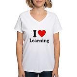 I love learning Womens V-Neck T-shirts