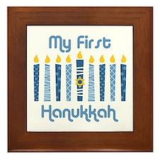 1st Hanukkah Candles Framed Tile