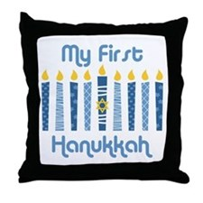 1st Hanukkah Candles Throw Pillow