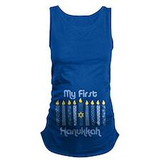 1st Hanukkah Candles Maternity Tank Top