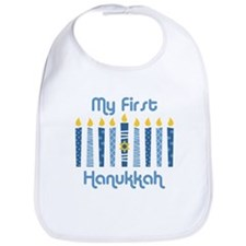 1st Hanukkah Candles Bib