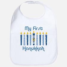 1st Hanukkah Candles Bib