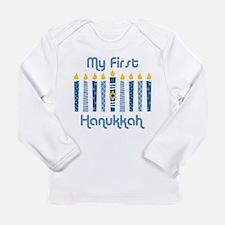 1st Hanukkah Candles Long Sleeve Infant T-Shirt