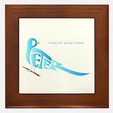 Peter blue bird Framed Tile