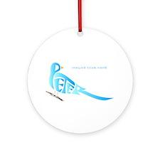 Peter blue bird Ornament (Round)