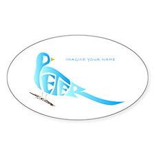 Peter blue bird Oval Decal