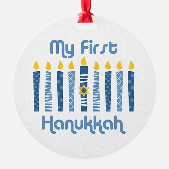 1st Hanukkah Candles Ornament