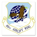 89th AW Square Car Magnet 3