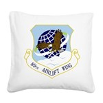 89th AW Square Canvas Pillow