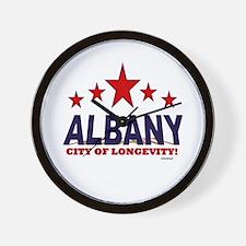 Albany City of Longevity Wall Clock