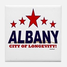 Albany City of Longevity Tile Coaster