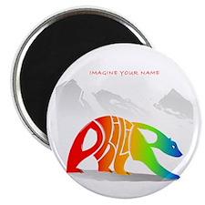 Philip rainbow bear Magnet