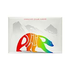 Philip rainbow bear Rectangle Magnet