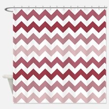 Shades of Mauve Chevron Pattern Shower Curtain