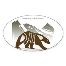 Philip brown bear Oval Decal