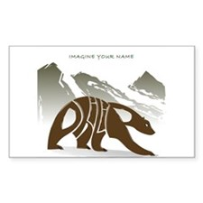 Philip brown bear Rectangle Decal