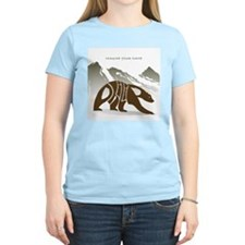 Philip brown bear Women's Pink T-Shirt
