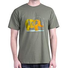 Paul orange elephant on dark T-Shirt