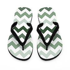 Sea Green Chevron Pattern Flip Flops