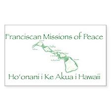 Hawaiian Island Rectangle Decal