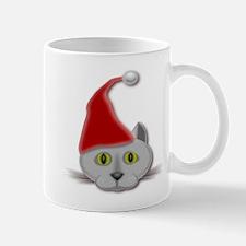 MERRY CHRISTMAS SANTA CAT Mugs