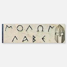 Molon Labe Bumper Bumper Sticker