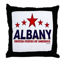 Albany U.S.A. Throw Pillow