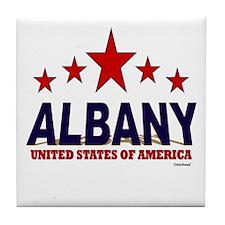 Albany U.S.A. Tile Coaster