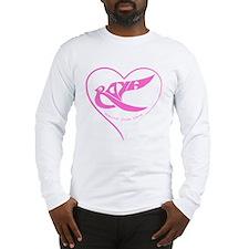Roya pink bird in a heart Long Sleeve T-Shirt