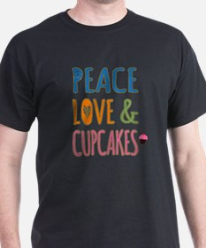 Peace Love and Cupcakes T-Shirt