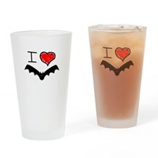 i love Halloween bats Drinking Glass
