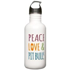 Peace Love and Pit Bul Water Bottle