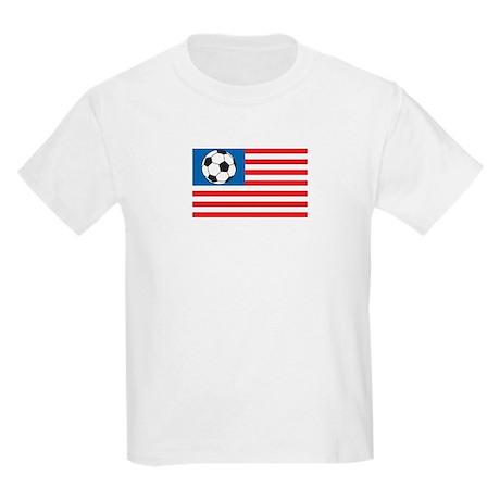 Soccer flag-America Kids T-Shirt