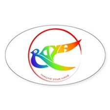 Roya rainbow bird Oval Decal