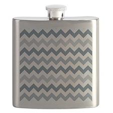 Stormy Sea Chevron Pattern Flask