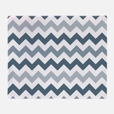 Stormy Sea Chevron Pattern Throw Blanket